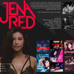 DJ Jena Red Press Kit
